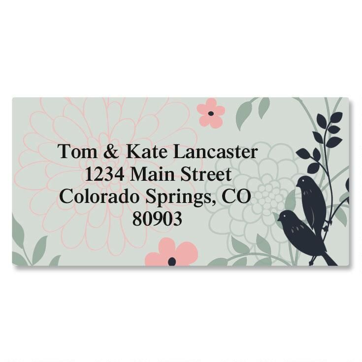 Love Birds Border Address Labels