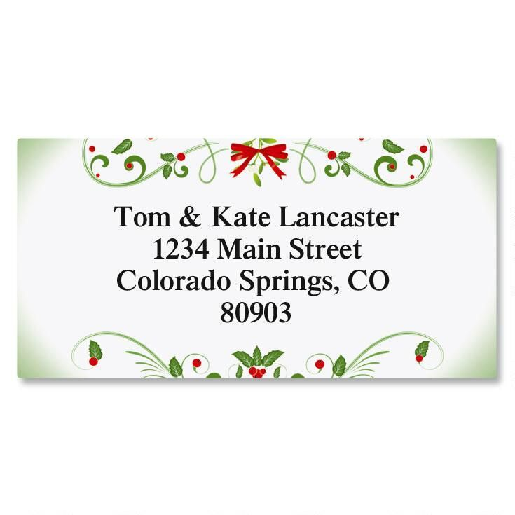 Mistletoe Magic Border Address Labels