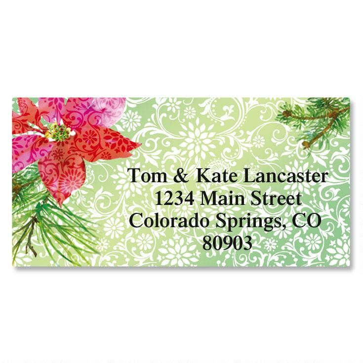 Festive Flower Border Address Labels
