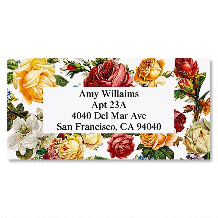 Victorian Rose Border Address Labels