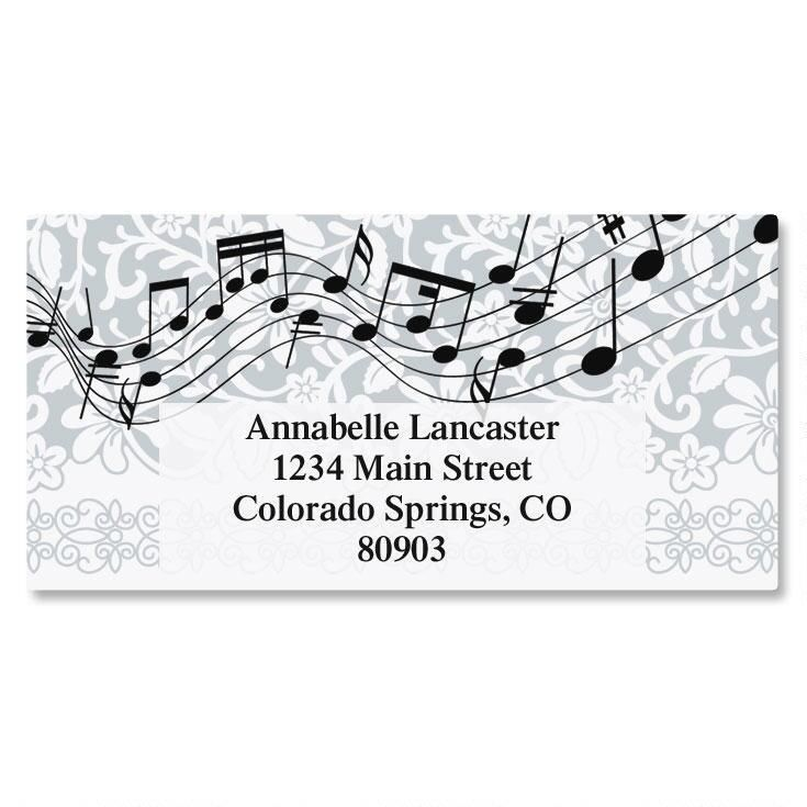 Chorus Line Border Address Labels
