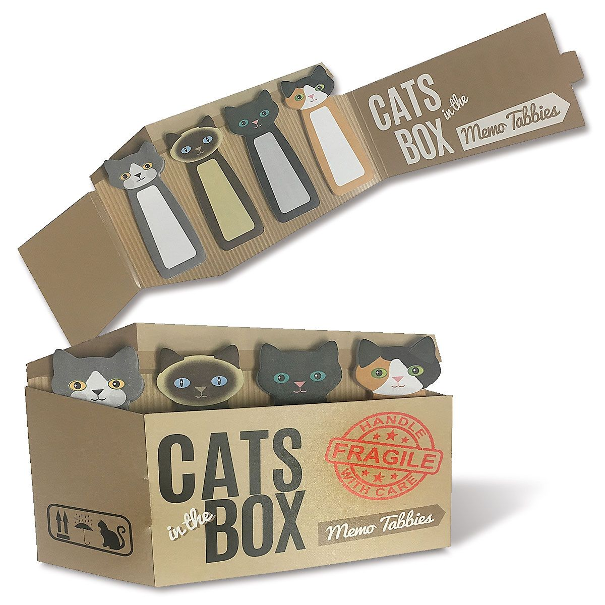 Cats in a Box Memo Tabs