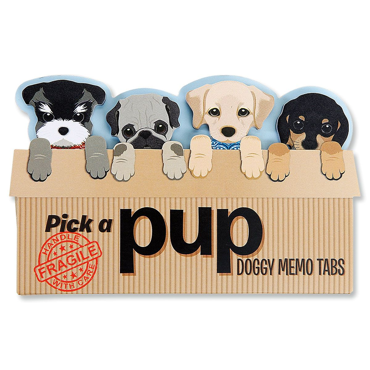 Pick a Pup in a  Box Sticky Tabs