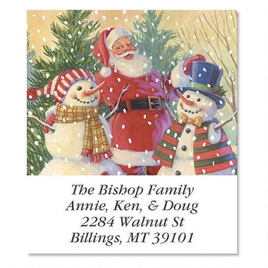 Santa's Snowmen Select Address Labels