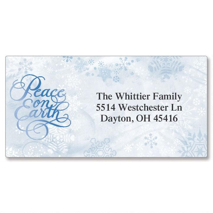 Peace Dove Foil Border Address Labels