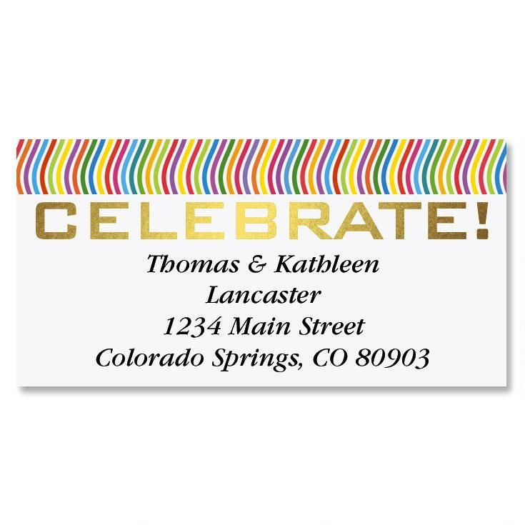 Celebrate Foil Border Address Labels