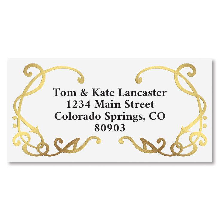 Grandeur Gold Foil Border Address Labels