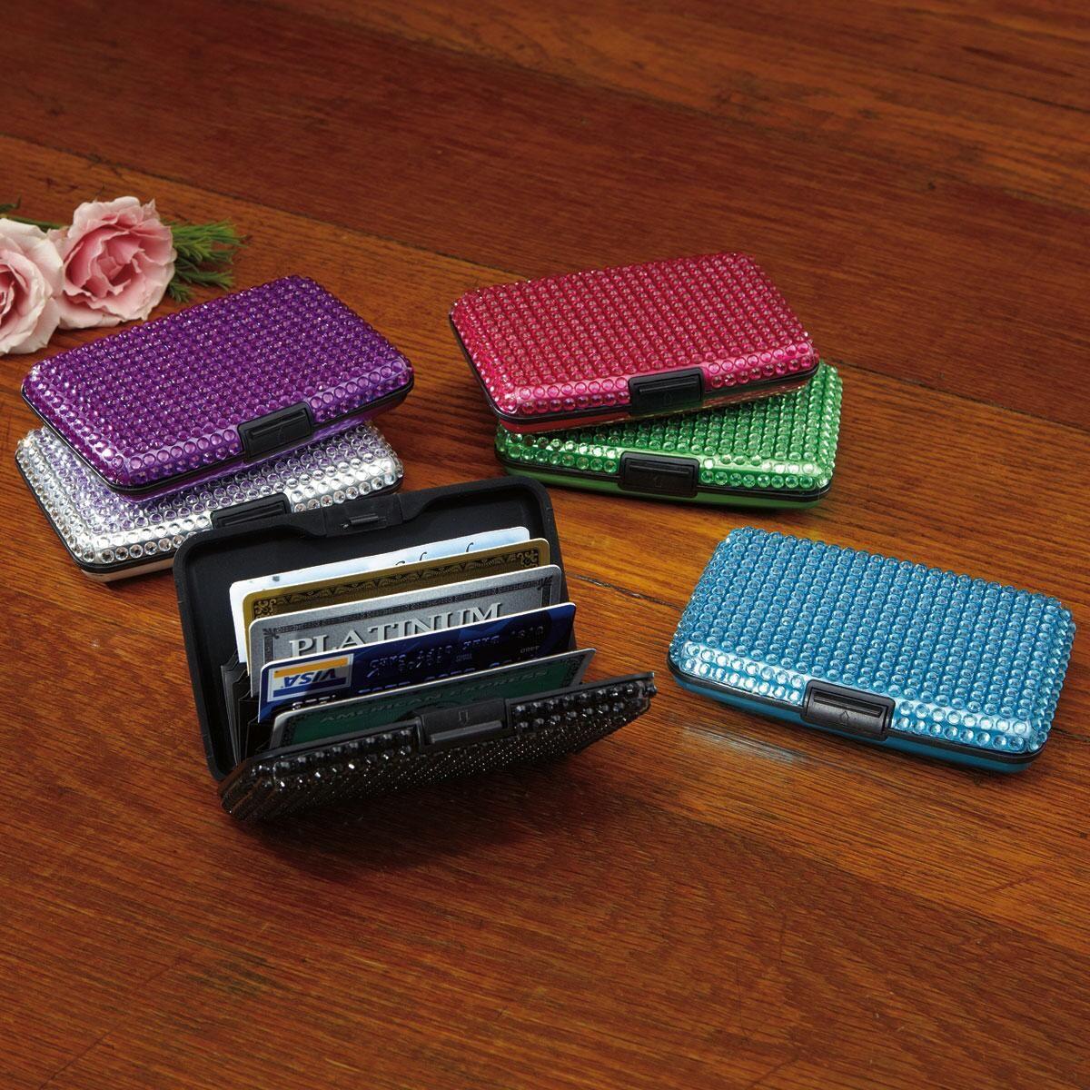 Crystal-Covered, Scan-Safe, Hard-Shell Wallet