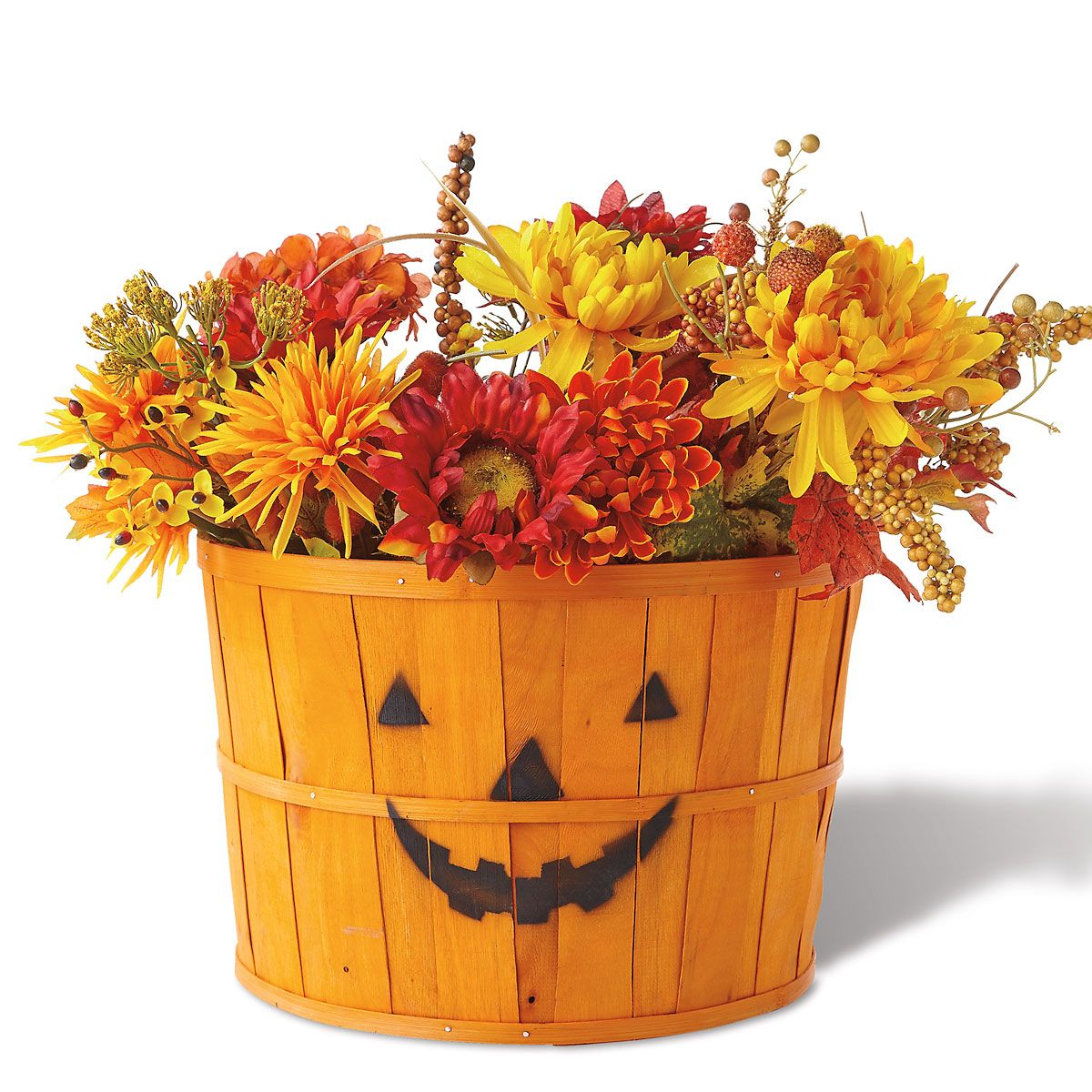 Pumpkin Face Basket