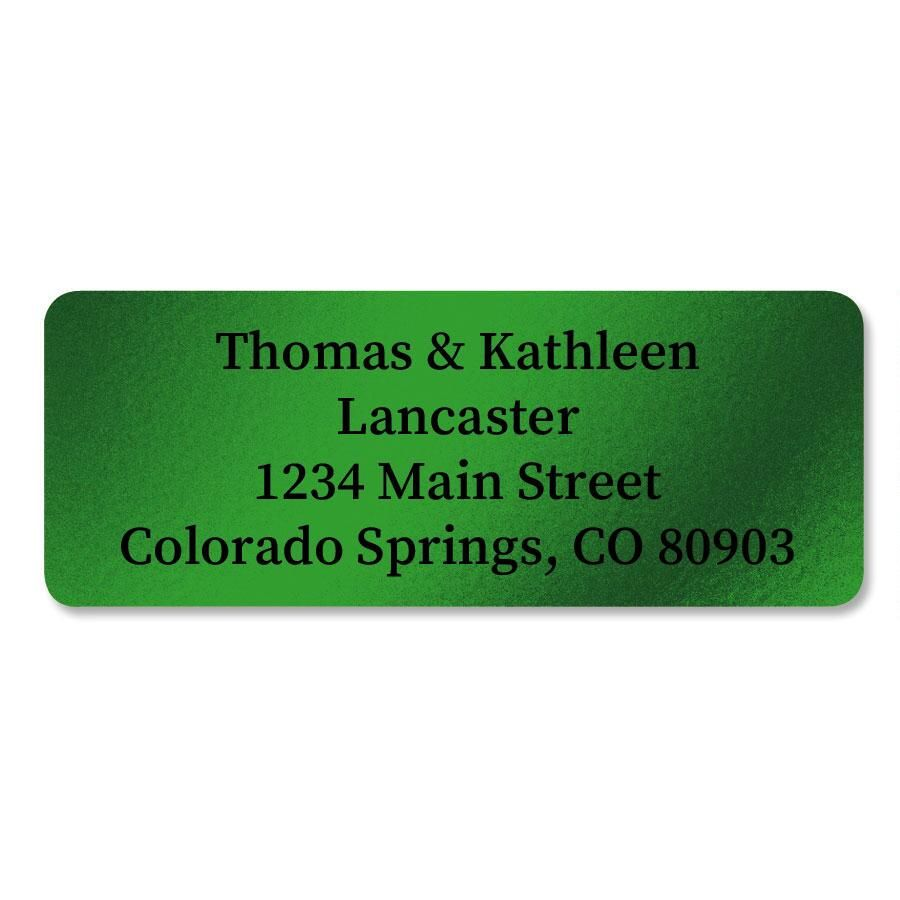 Green Foil Address Labels - 240 Count Sheets