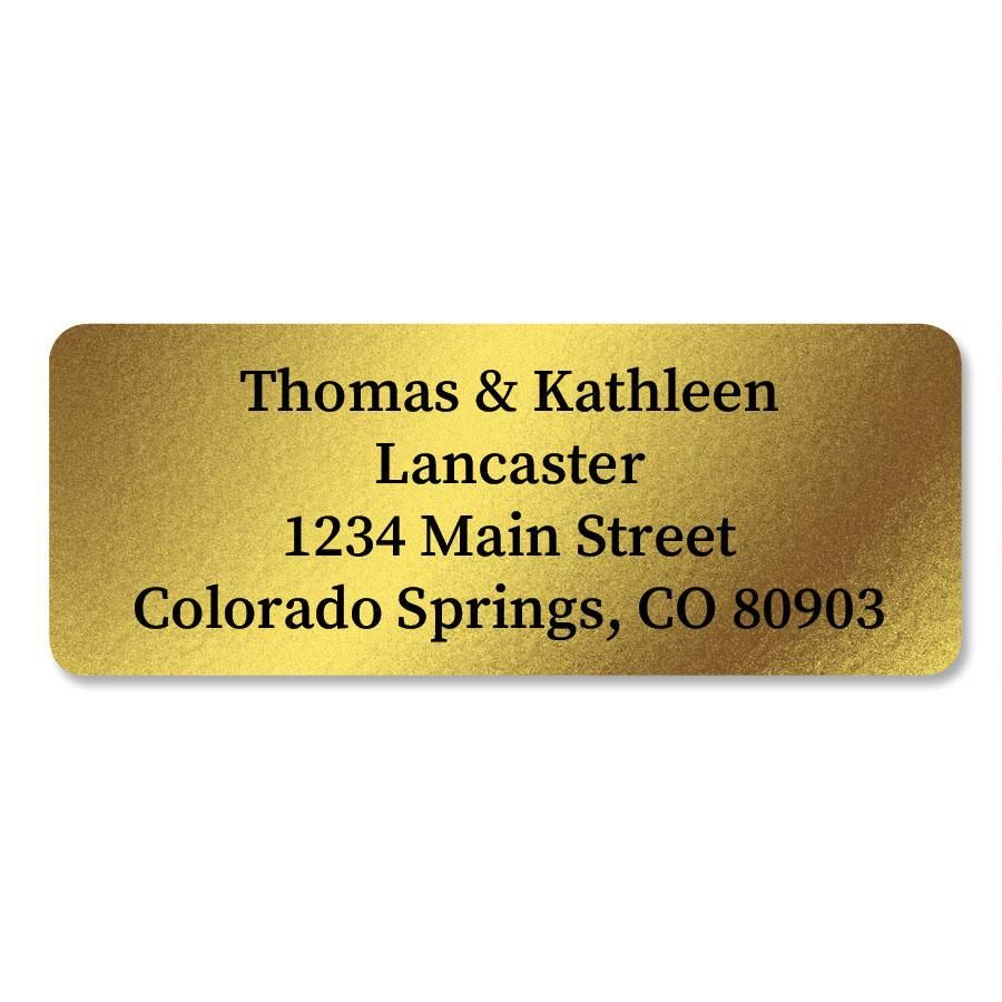 Gold Foil Address Labels - 96 Count Sheets