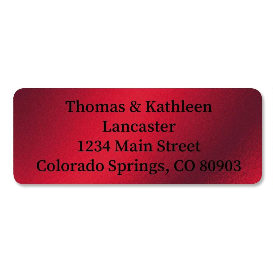 Red Foil Address Labels - 96 Count Sheets