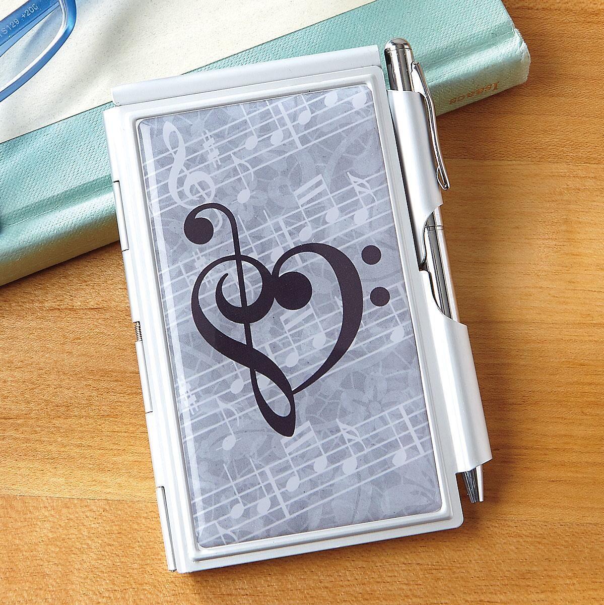 Music Heart Notepad & Pen Set