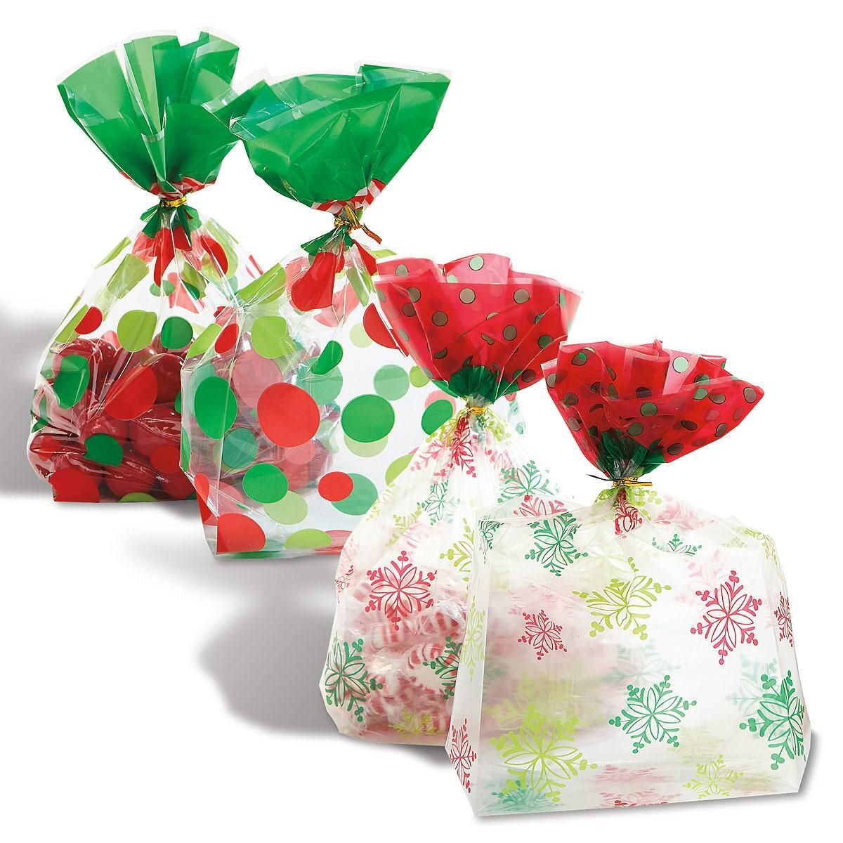 Christmas Cello Bags with Ties