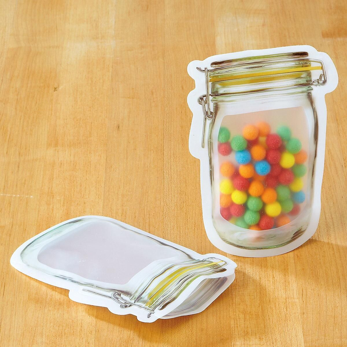 Small Mason Jar Zipper Bags
