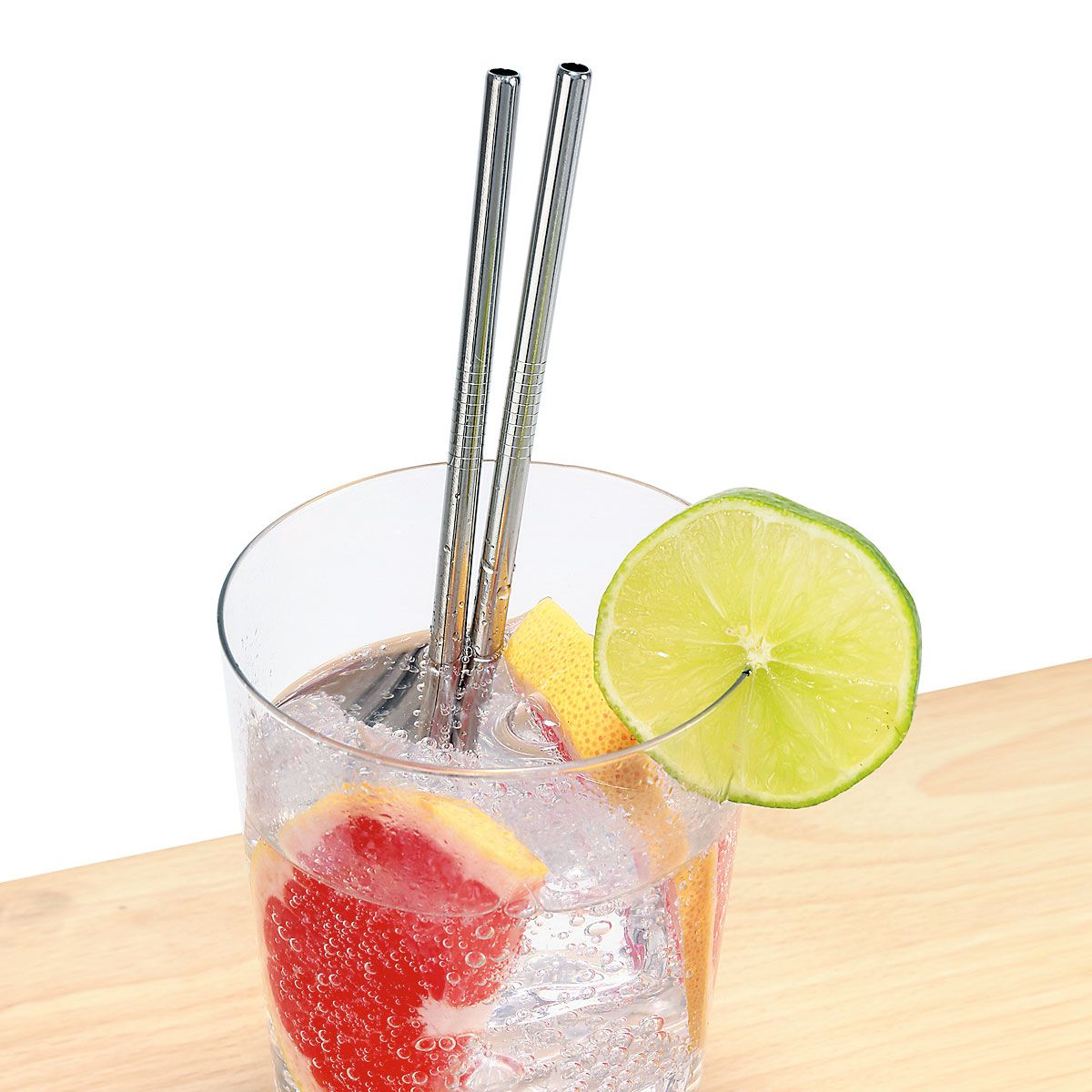 Stainless Steel Straws & Cleaning Brush
