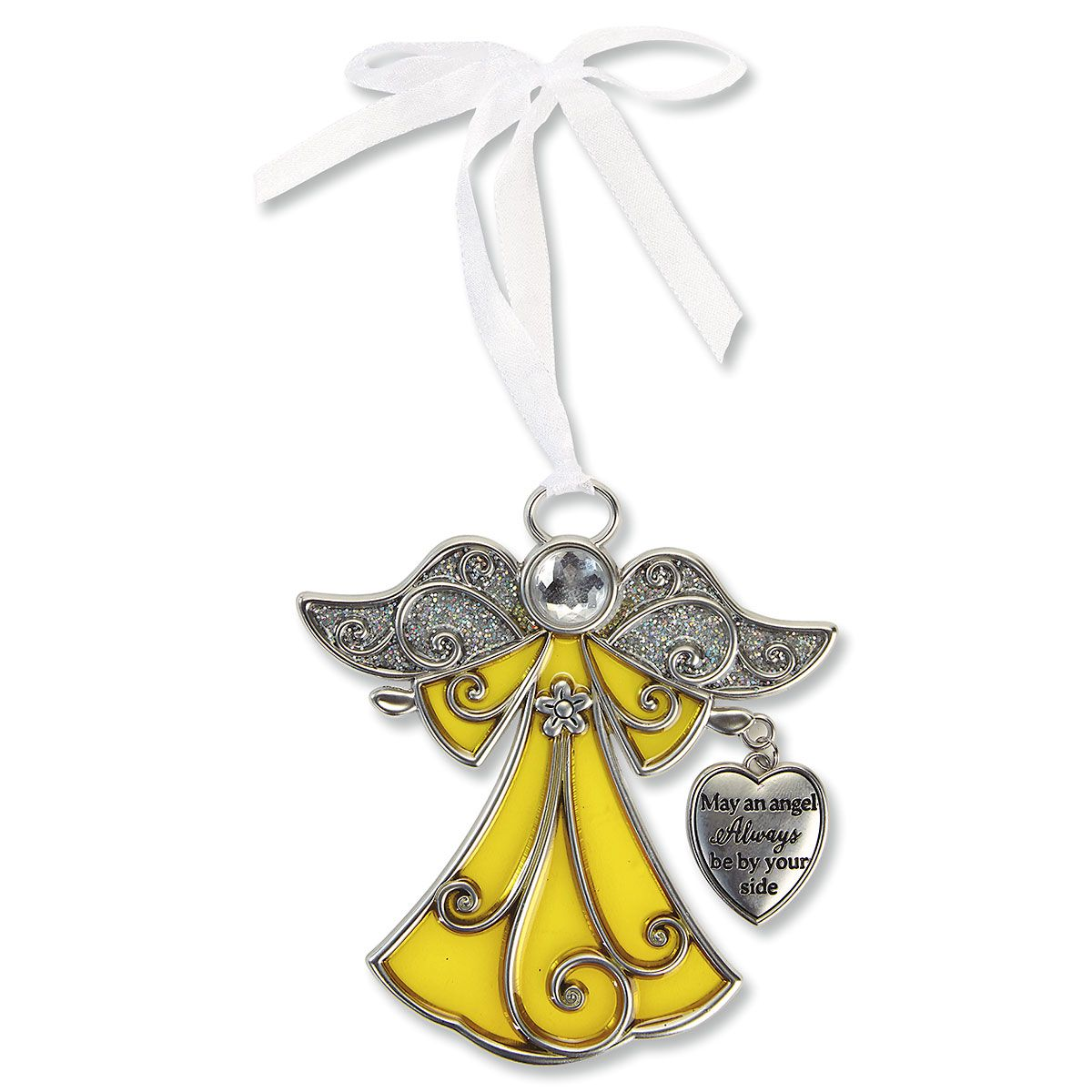 Stained Glass Angel Christmas Ornament | Current Catalog
