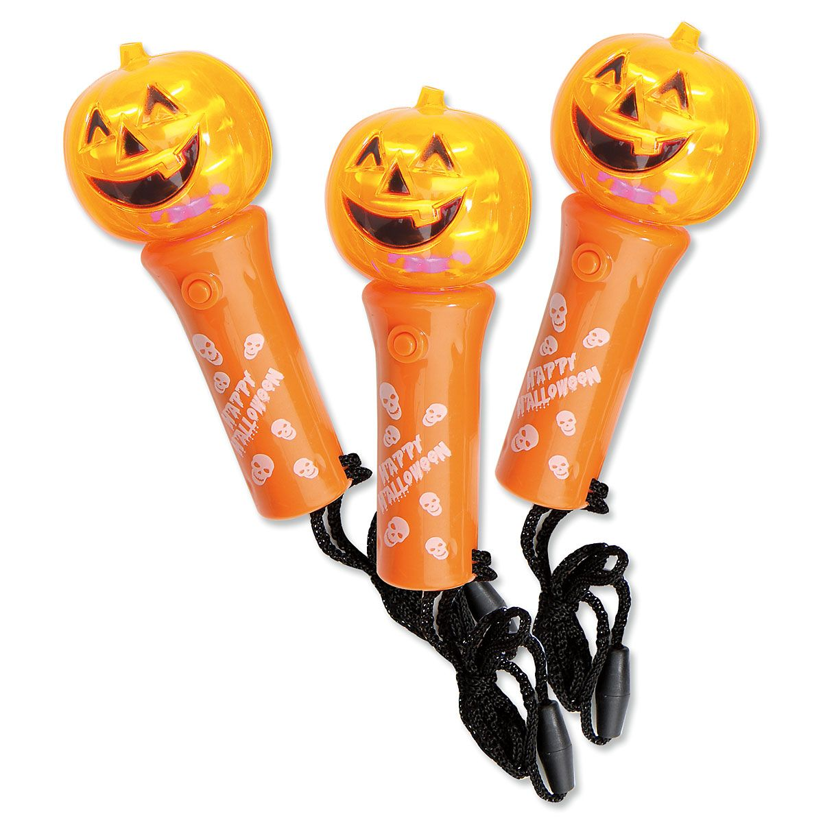 Mini Pumpkin Halloween Light Wand Spinners