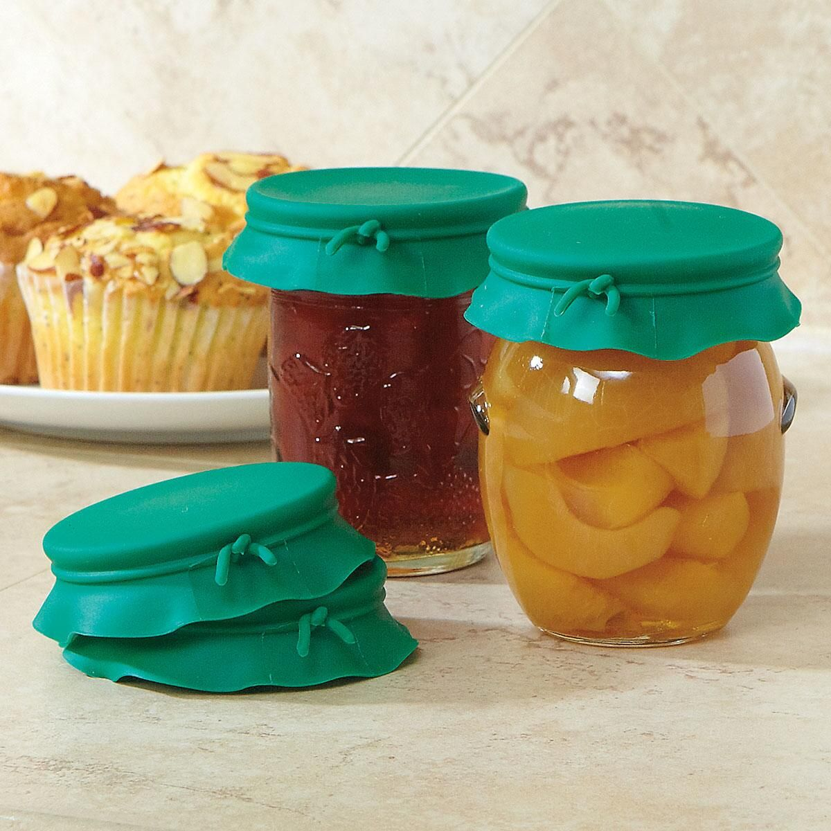 Green Silicone Jar Toppers