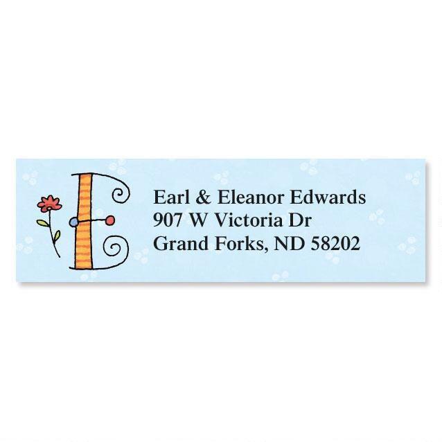 Sue Dreamer Initial Classic Address Labels