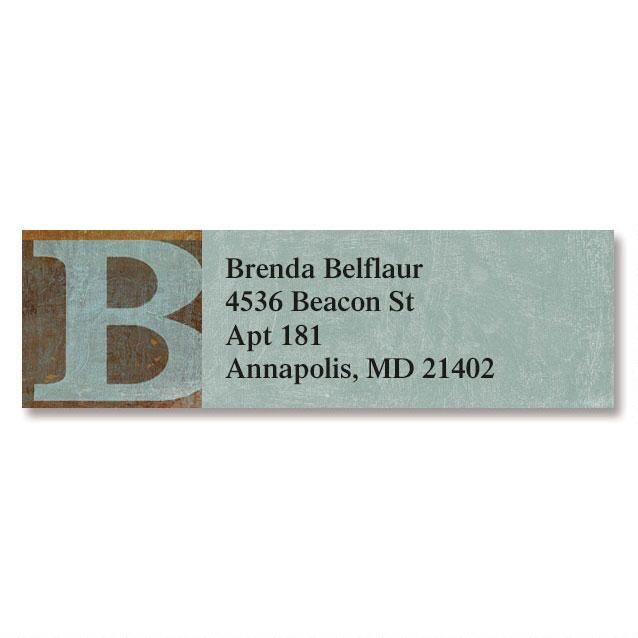 Qwerties Initial Classic Address Labels