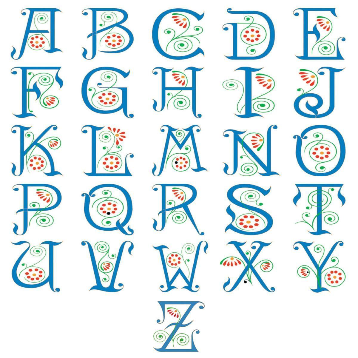 Spring Monogram Classic Address Labels