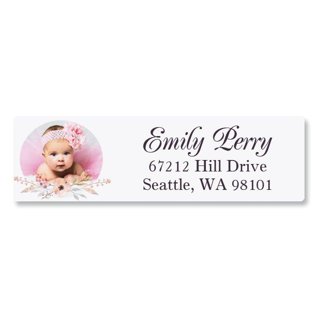 Floral Classic Photo Personalized Address Labels