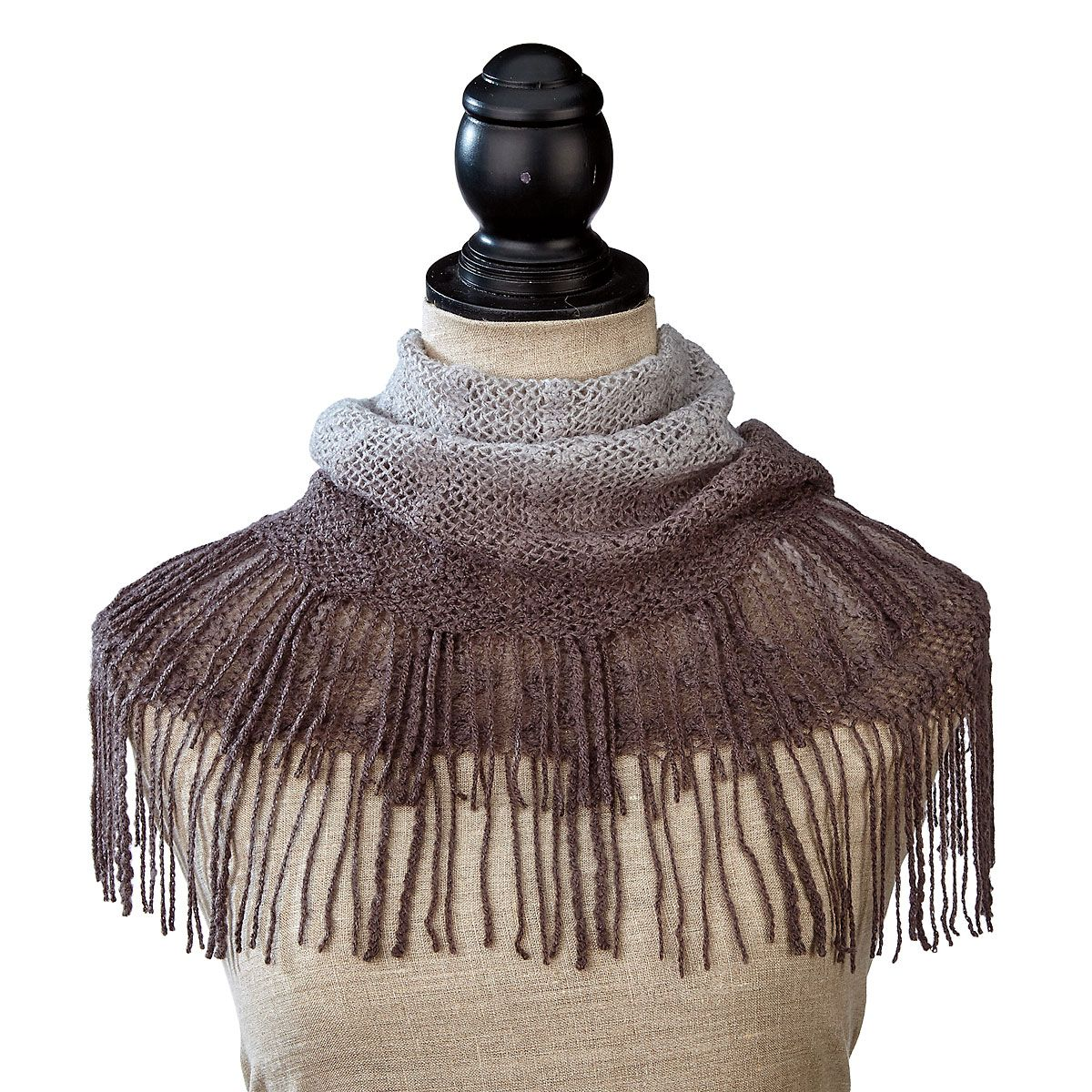 Infinity Scarf - Charcoal Grey Ombre