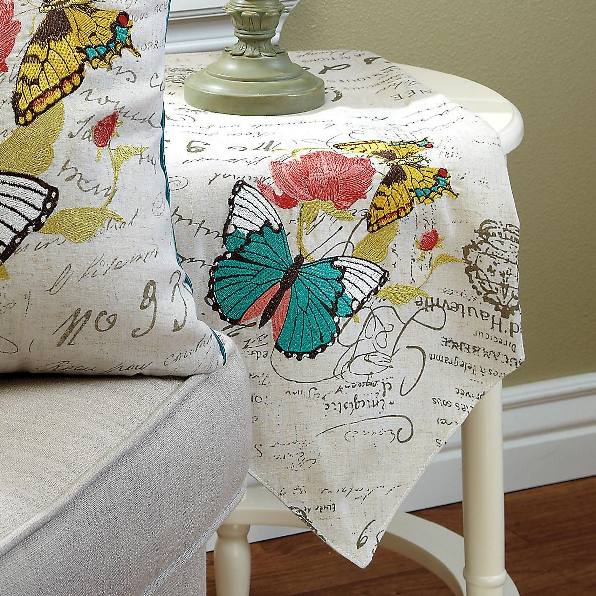 Bright Butterfly Table Runner