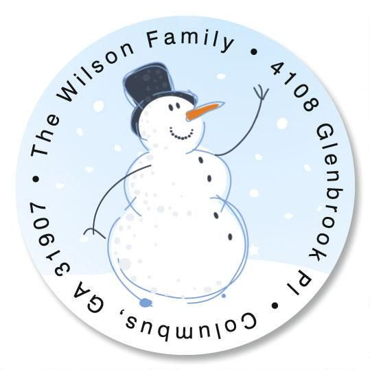 Holiday Sparkle Round Address Label