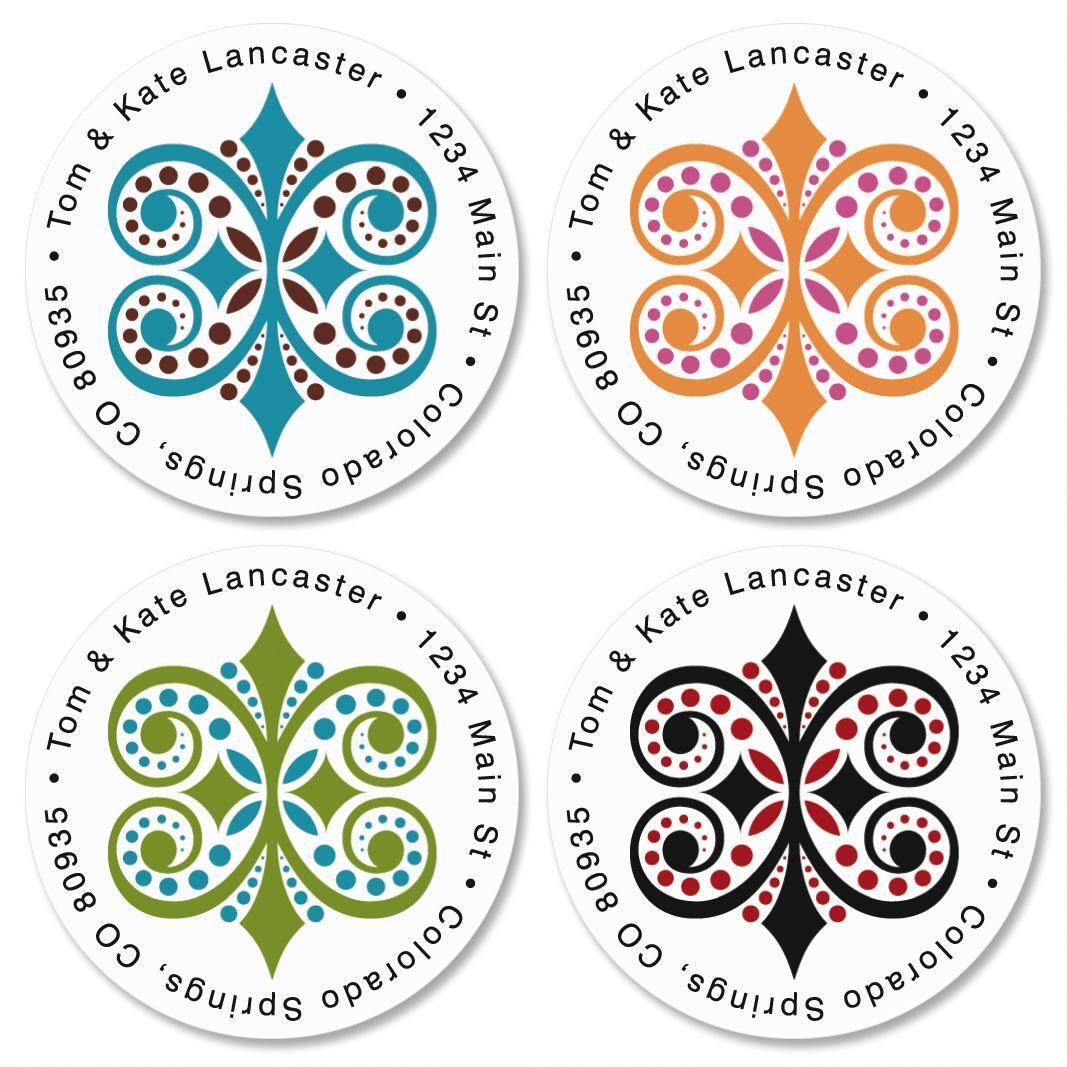 Improv  Round Address Labels  (4 designs)