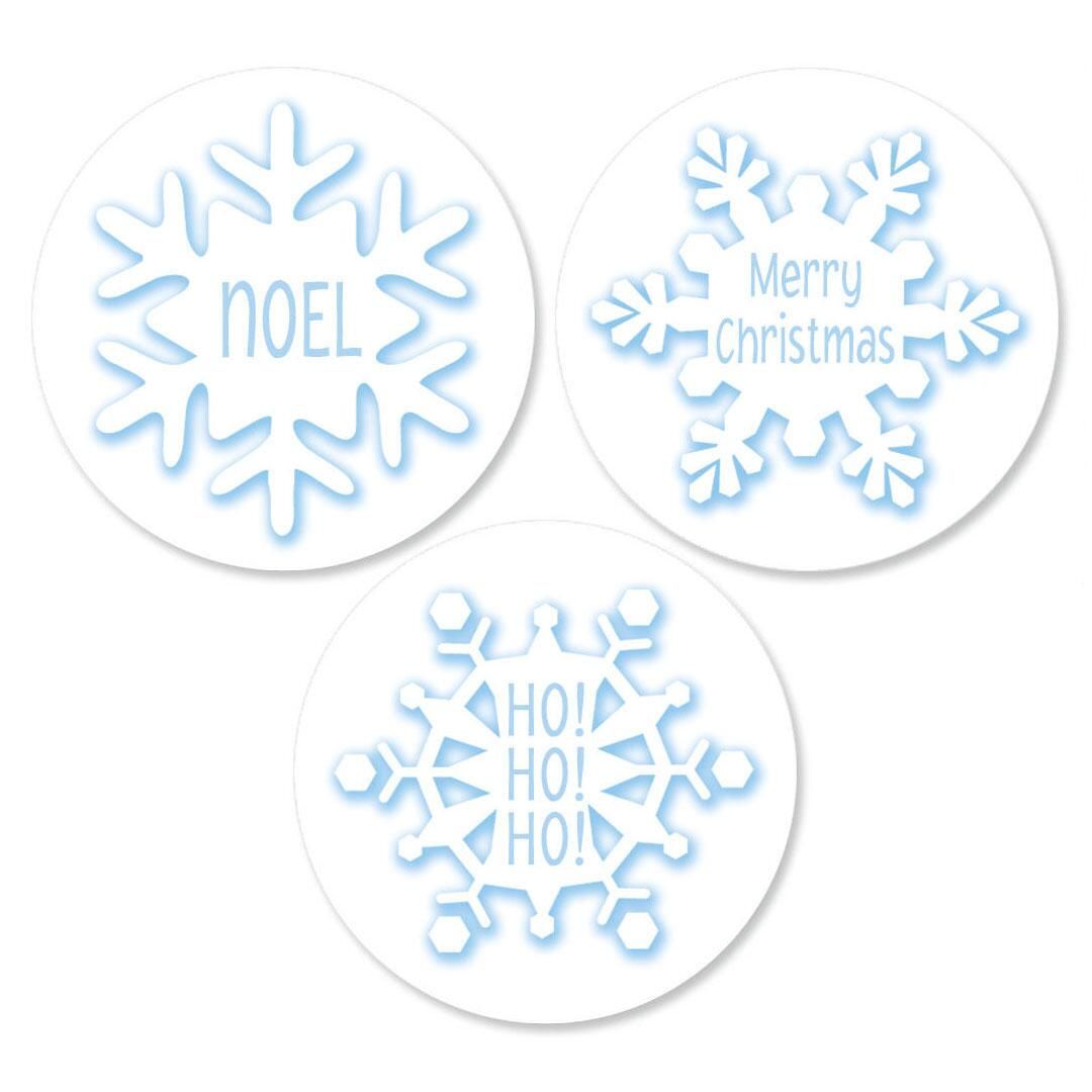 Snowflake Round Envelope Sticker Seals