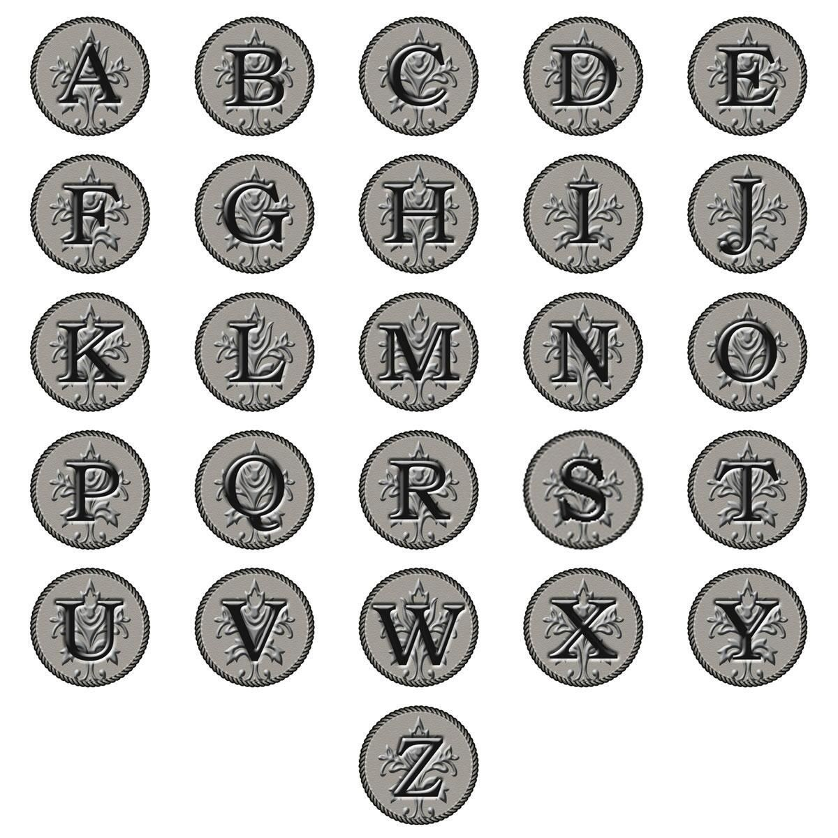Embossed-Look Initial Round Address Labels