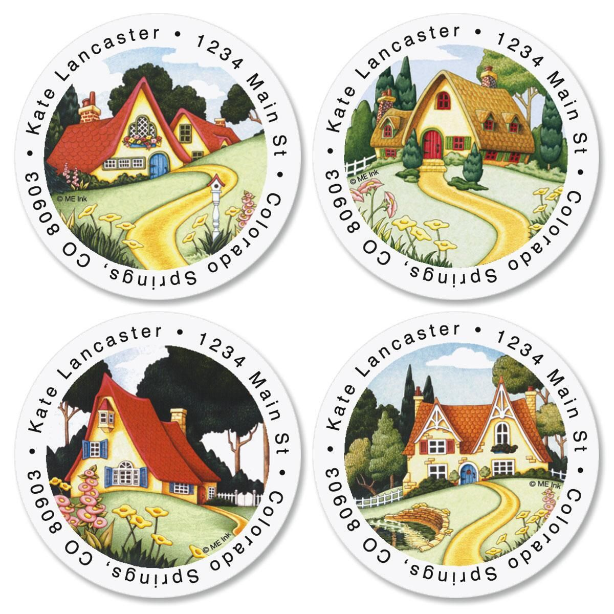 M E At Home Round Address Labels Current Catalog