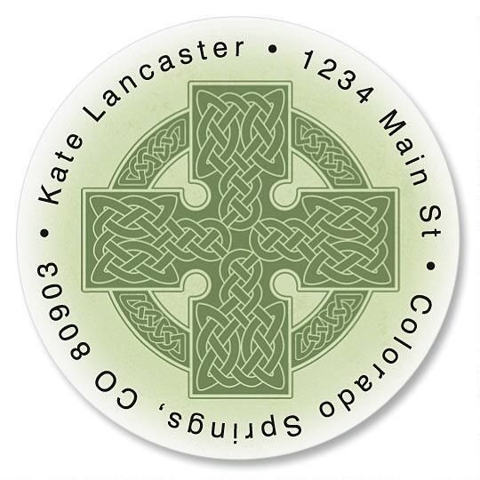 Celtic Cross Round Address Labels