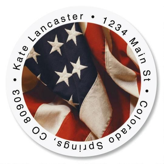 USA Round Address Labels