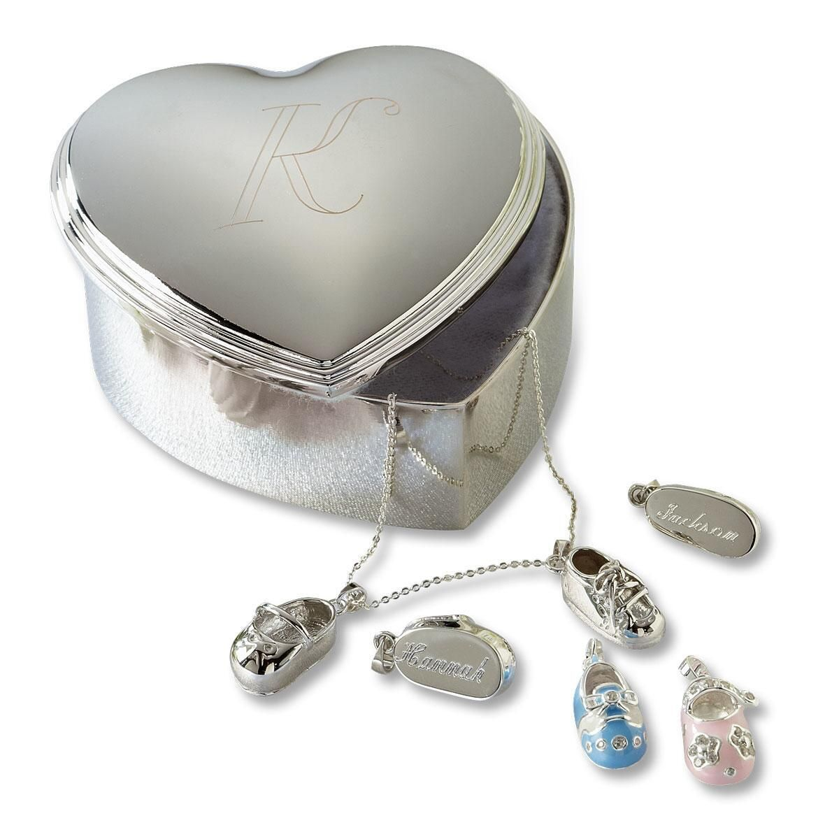 Personalized Trinket Heart Box