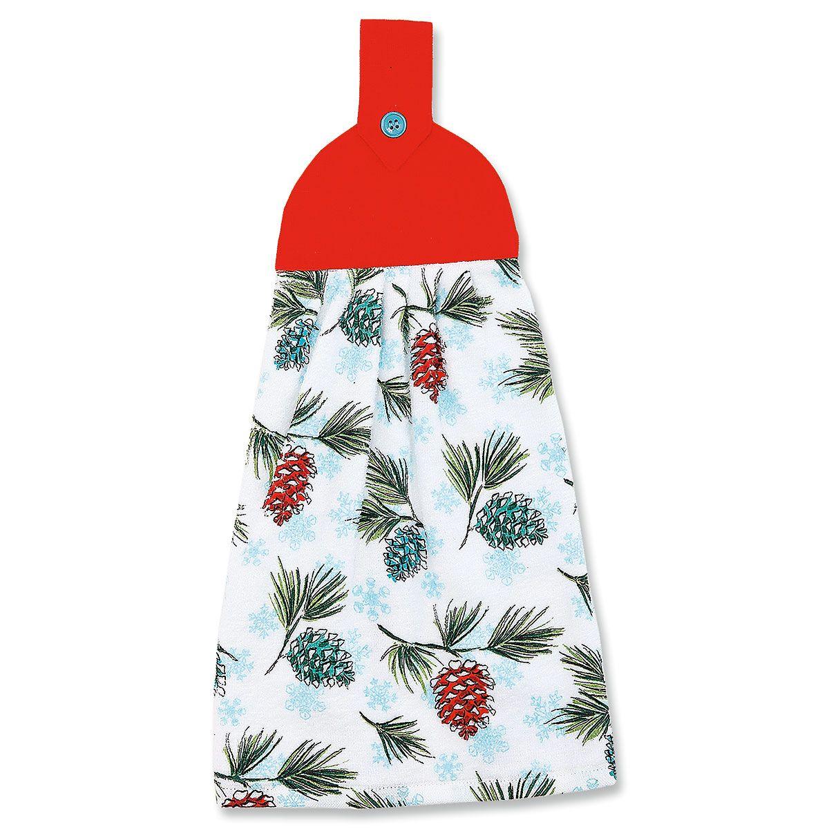 Pine Cone Tie Towel