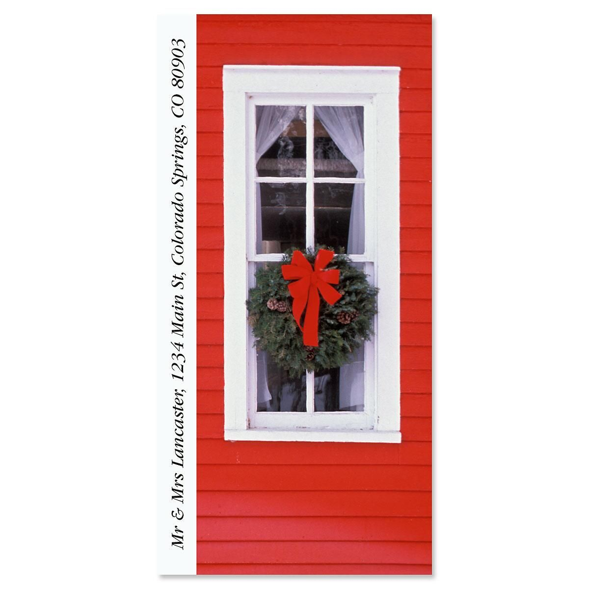 Christmas Windows Oversized Address Label