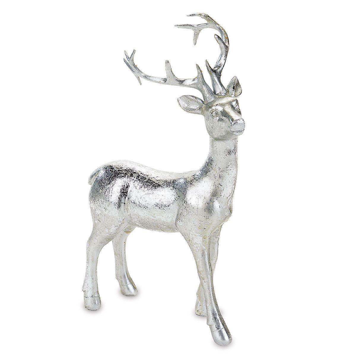 Silver Reindeer Figurines