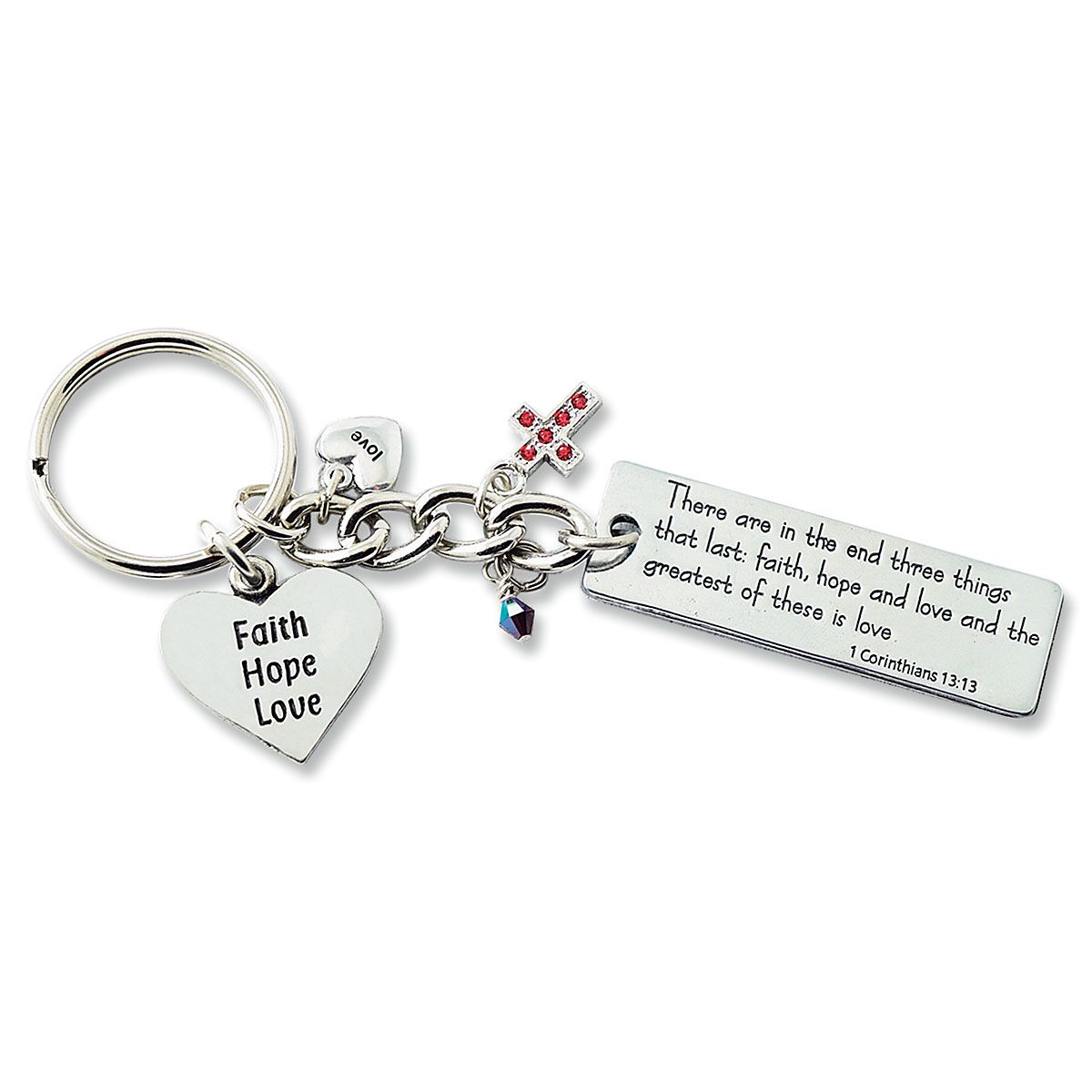 Faith Hope Love Key Chain