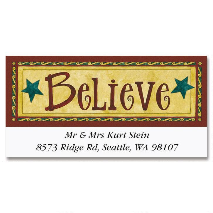 D. Strain Believe Deluxe Address Labels