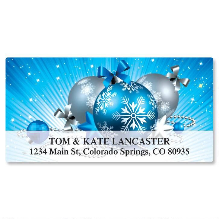 Blue Sparkle Deluxe Address Labels