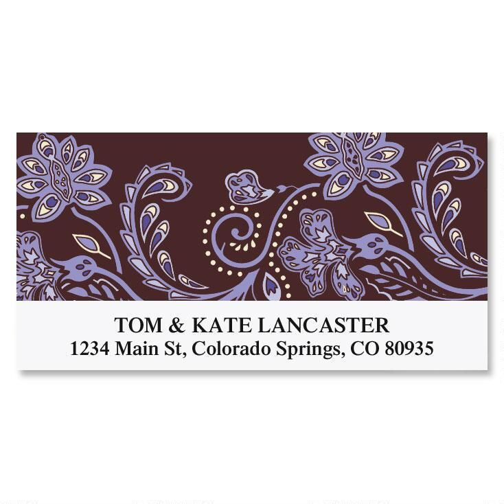 Lavender Brocade Deluxe Address Labels