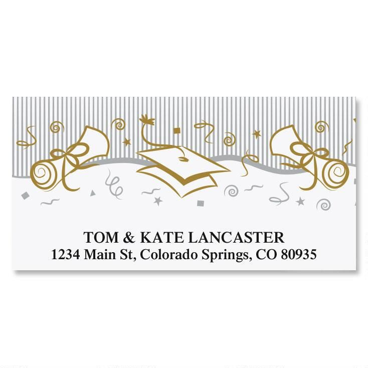 Graduation Party Deluxe Address Labels