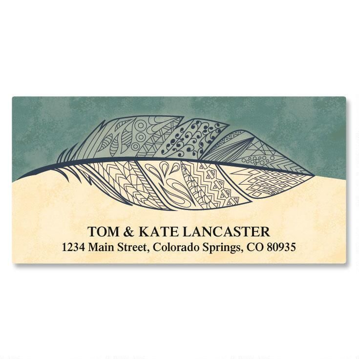 Feather Deluxe Address Labels