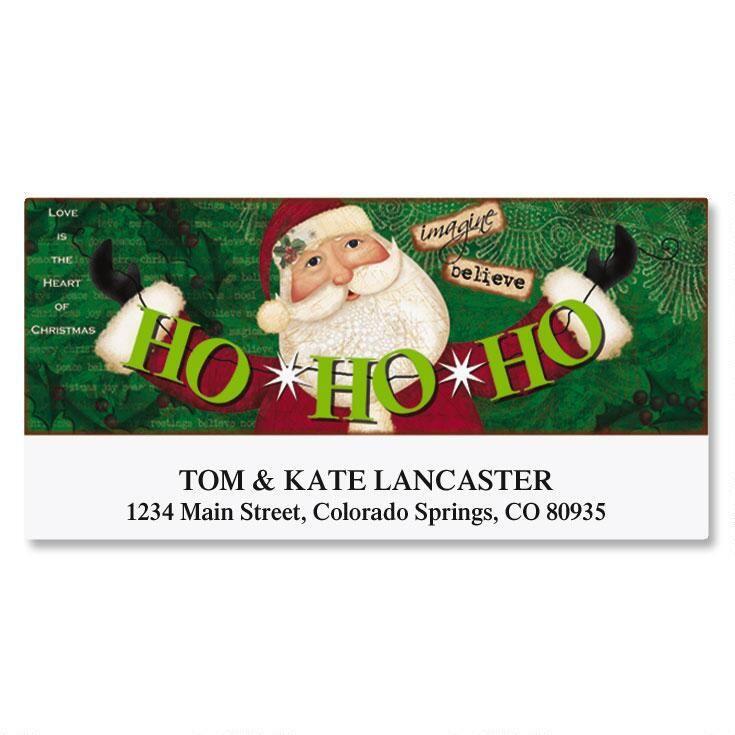 Santa Banner Deluxe Address Labels