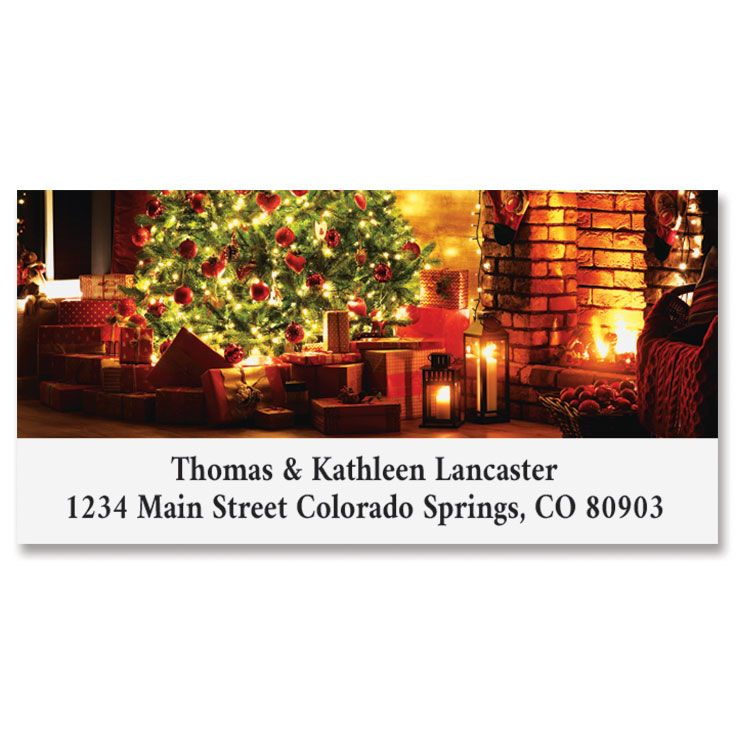 Classic Christmas Deluxe Address Labels