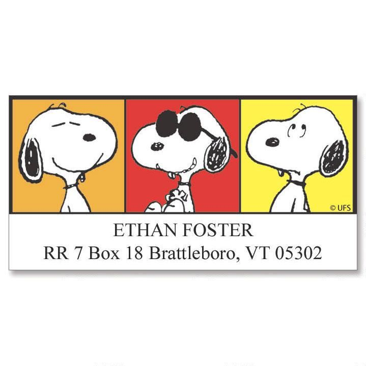 Snoopy™ Portraits Address Labels