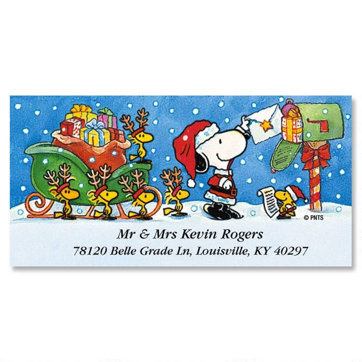PEANUTS® Special Delivery Snoopy Deluxe Label